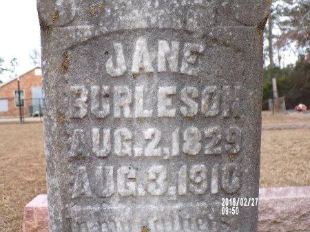 BURLESON, JANE WILSON (CLOSE UP) - Ouachita County, Arkansas | JANE WILSON (CLOSE UP) BURLESON - Arkansas Gravestone Photos