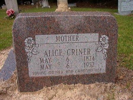 CRINER, ALICE - Ouachita County, Arkansas | ALICE CRINER - Arkansas Gravestone Photos