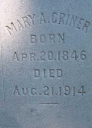 CRINER, MARY A - Ouachita County, Arkansas | MARY A CRINER - Arkansas Gravestone Photos