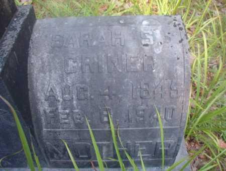 CRINER, SARAH S - Ouachita County, Arkansas | SARAH S CRINER - Arkansas Gravestone Photos