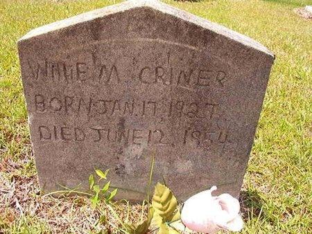 CRINER, WILLIE M - Ouachita County, Arkansas   WILLIE M CRINER - Arkansas Gravestone Photos