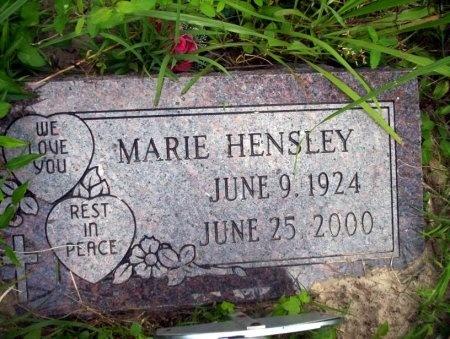 HENSLEY, MARIE - Ouachita County, Arkansas | MARIE HENSLEY - Arkansas Gravestone Photos