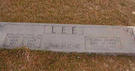 QUARLES LEE, VIRGINIA - Ouachita County, Arkansas | VIRGINIA QUARLES LEE - Arkansas Gravestone Photos