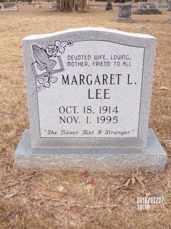 LEE, MARGARET L - Ouachita County, Arkansas | MARGARET L LEE - Arkansas Gravestone Photos