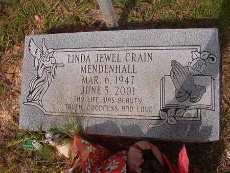 CRAIN MENDENHALL, LINDA JEWEL - Ouachita County, Arkansas   LINDA JEWEL CRAIN MENDENHALL - Arkansas Gravestone Photos