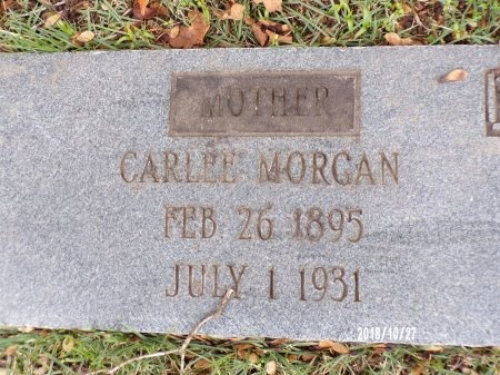 MORGAN, CARLEE (CLOSE UP) - Ouachita County, Arkansas | CARLEE (CLOSE UP) MORGAN - Arkansas Gravestone Photos