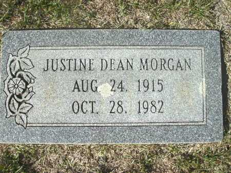 MORGAN, JUSTINE DEAN - Ouachita County, Arkansas | JUSTINE DEAN MORGAN - Arkansas Gravestone Photos