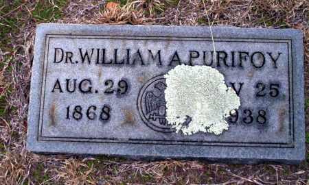 PURIFOY, WILLIAM A., DR - Ouachita County, Arkansas   WILLIAM A., DR PURIFOY - Arkansas Gravestone Photos