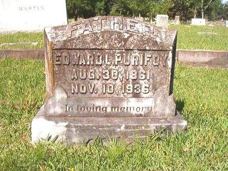 PURIFOY, EDWARD LUCIUS - Ouachita County, Arkansas   EDWARD LUCIUS PURIFOY - Arkansas Gravestone Photos