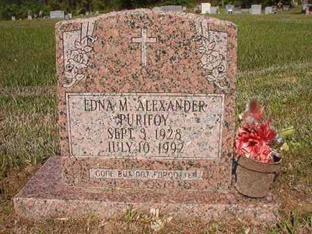 PURIFOY, EDNA M - Ouachita County, Arkansas | EDNA M PURIFOY - Arkansas Gravestone Photos