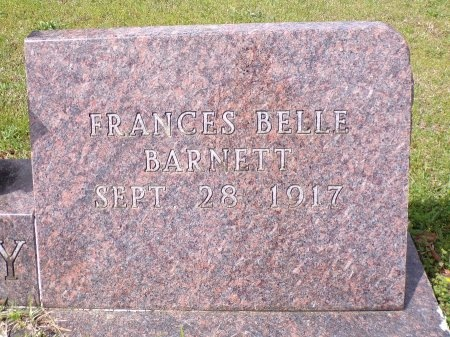 BARNETT PURIFOY, FRANCES BELLE (CLOSE UP) - Ouachita County, Arkansas | FRANCES BELLE (CLOSE UP) BARNETT PURIFOY - Arkansas Gravestone Photos