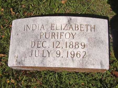 "CROSS PURIFOY, INDIA ELIZABETH ""BESS"" - Ouachita County, Arkansas 