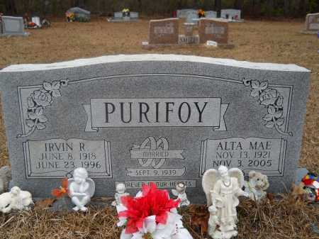 PURIFOY, IRVIN R - Ouachita County, Arkansas | IRVIN R PURIFOY - Arkansas Gravestone Photos