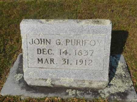 PURIFOY, JOHN G - Ouachita County, Arkansas | JOHN G PURIFOY - Arkansas Gravestone Photos