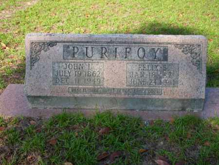 PURIFOY, FELIX B - Ouachita County, Arkansas | FELIX B PURIFOY - Arkansas Gravestone Photos