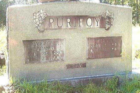 ADAMS PURIFOY, MARGARET JEMIMA - Ouachita County, Arkansas | MARGARET JEMIMA ADAMS PURIFOY - Arkansas Gravestone Photos
