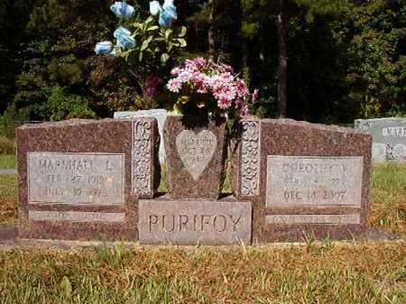 PURIFOY, MARSHALL L - Ouachita County, Arkansas | MARSHALL L PURIFOY - Arkansas Gravestone Photos