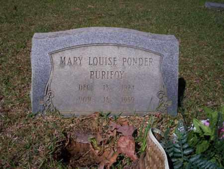 PURIFOY, MARY LOUISE - Ouachita County, Arkansas | MARY LOUISE PURIFOY - Arkansas Gravestone Photos