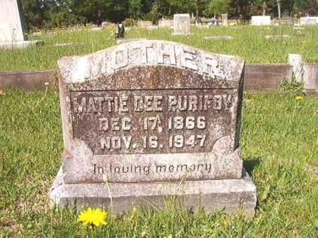 PURIFOY, MATTIE DEE - Ouachita County, Arkansas | MATTIE DEE PURIFOY - Arkansas Gravestone Photos