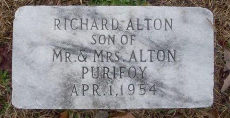PURIFOY, RICHARD ALTON - Ouachita County, Arkansas | RICHARD ALTON PURIFOY - Arkansas Gravestone Photos