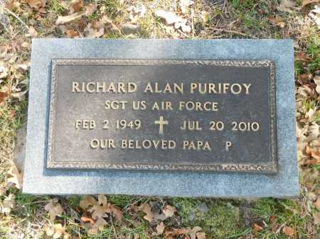 PURIFOY, RICHARD ALAN - Ouachita County, Arkansas | RICHARD ALAN PURIFOY - Arkansas Gravestone Photos