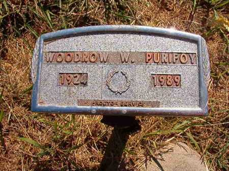 PURIFOY, WOODROW W - Ouachita County, Arkansas | WOODROW W PURIFOY - Arkansas Gravestone Photos