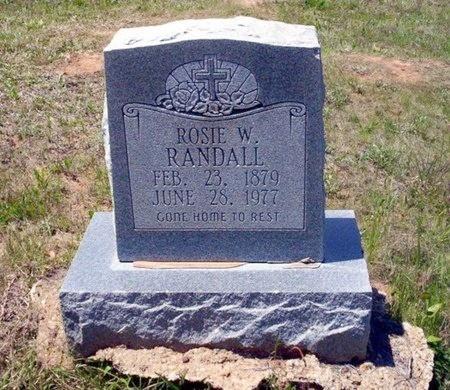 RANDALL, ROSIE W - Ouachita County, Arkansas   ROSIE W RANDALL - Arkansas Gravestone Photos