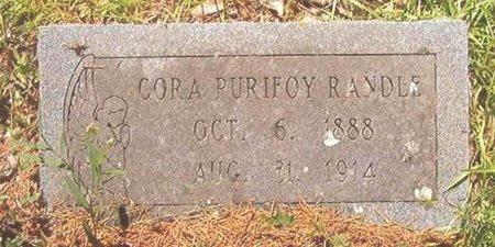 RANDLE, CORA - Ouachita County, Arkansas | CORA RANDLE - Arkansas Gravestone Photos