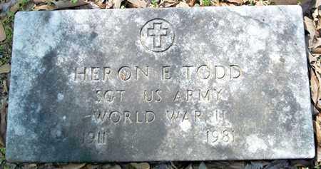 TODD (VETERAN WWII), HERON E - Ouachita County, Arkansas   HERON E TODD (VETERAN WWII) - Arkansas Gravestone Photos
