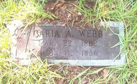 WEBB, CARIA ANNA (CLOSEUP) - Ouachita County, Arkansas   CARIA ANNA (CLOSEUP) WEBB - Arkansas Gravestone Photos