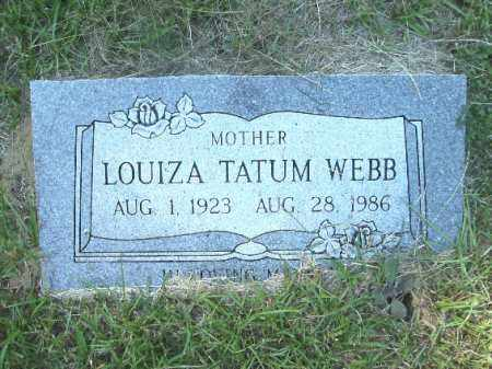 TATUM WEBB, LOUIZA - Ouachita County, Arkansas   LOUIZA TATUM WEBB - Arkansas Gravestone Photos