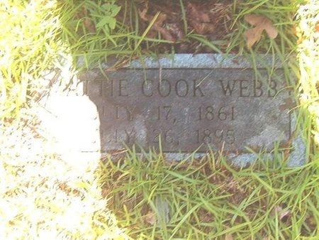 COOK WEBB, MATTIE E (CLOSEUP) - Ouachita County, Arkansas   MATTIE E (CLOSEUP) COOK WEBB - Arkansas Gravestone Photos