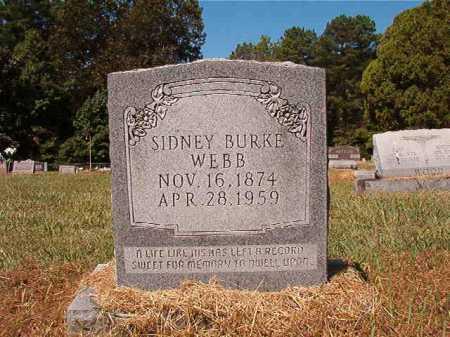 WEBB, SIDNEY BURKE - Ouachita County, Arkansas   SIDNEY BURKE WEBB - Arkansas Gravestone Photos