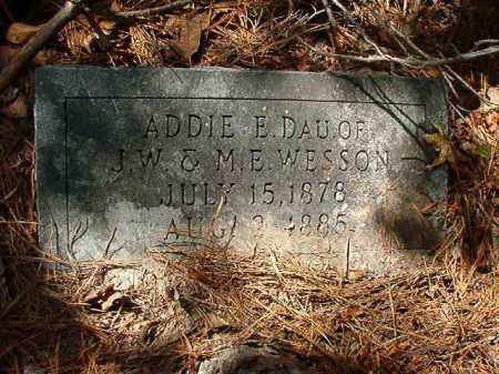 WESSON, ADDIE E - Ouachita County, Arkansas | ADDIE E WESSON - Arkansas Gravestone Photos