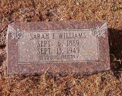 WILLIAMS, SARAH E - Ouachita County, Arkansas | SARAH E WILLIAMS - Arkansas Gravestone Photos