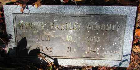 HARTLEY BLOOMER, MYRTLE - Perry County, Arkansas | MYRTLE HARTLEY BLOOMER - Arkansas Gravestone Photos