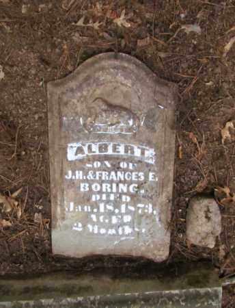 BORING, ALBERT - Perry County, Arkansas   ALBERT BORING - Arkansas Gravestone Photos