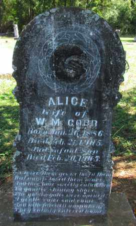 COBB, ALICE - Perry County, Arkansas   ALICE COBB - Arkansas Gravestone Photos