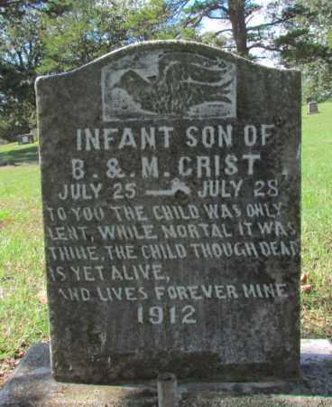 CRIST, INFANT SON - Perry County, Arkansas | INFANT SON CRIST - Arkansas Gravestone Photos