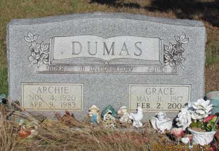 DUMAS, GRACE - Perry County, Arkansas | GRACE DUMAS - Arkansas Gravestone Photos