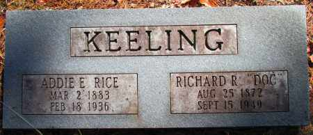 "KEELING, RICHARD R ""DOC"" - Perry County, Arkansas | RICHARD R ""DOC"" KEELING - Arkansas Gravestone Photos"