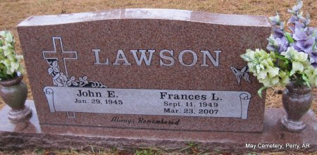 LAWSON, FRANCES LOUISE - Perry County, Arkansas | FRANCES LOUISE LAWSON - Arkansas Gravestone Photos