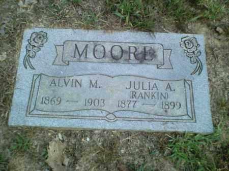 MOORE, JULIA A. - Perry County, Arkansas   JULIA A. MOORE - Arkansas Gravestone Photos