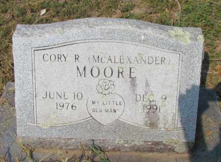 MOORE, CORY R (MCALEXANDER) - Perry County, Arkansas | CORY R (MCALEXANDER) MOORE - Arkansas Gravestone Photos