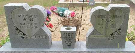 MOORE, WESLEY ALLEN - Perry County, Arkansas | WESLEY ALLEN MOORE - Arkansas Gravestone Photos