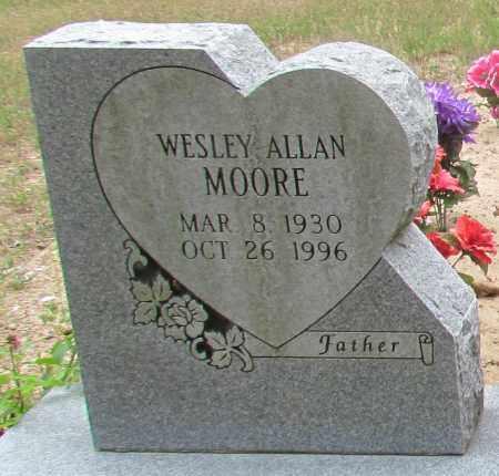 MOORE, WESLEY ALLEN (CLOSE UP) - Perry County, Arkansas   WESLEY ALLEN (CLOSE UP) MOORE - Arkansas Gravestone Photos