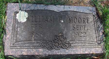 MOORE, WILLIAM D - Perry County, Arkansas | WILLIAM D MOORE - Arkansas Gravestone Photos