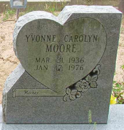 MOORE, YVONNE CAROLYN (CLOSE UP) - Perry County, Arkansas | YVONNE CAROLYN (CLOSE UP) MOORE - Arkansas Gravestone Photos