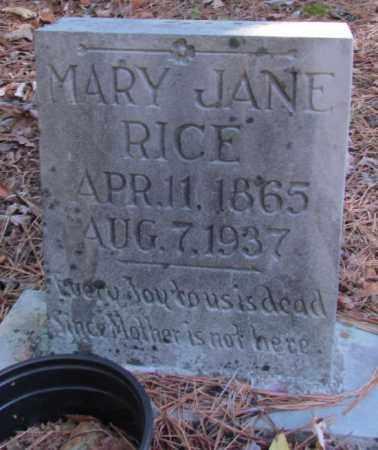 RICE, MARY JANE - Perry County, Arkansas | MARY JANE RICE - Arkansas Gravestone Photos