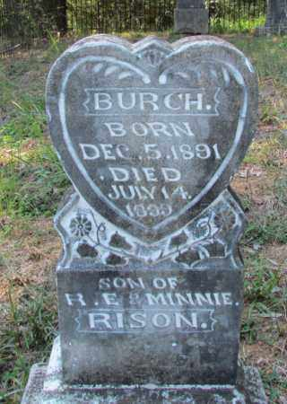 RISON, BURCH - Perry County, Arkansas | BURCH RISON - Arkansas Gravestone Photos
